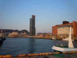 DSCN6037門司港レトロの夕焼け