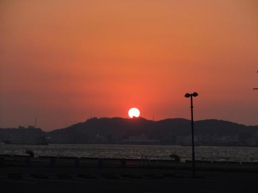 DSCN6042門司港の夕焼け
