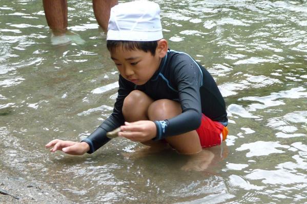 海草郡紀美野町 三尾川で遊び2011-03