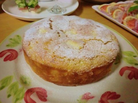 りんごクリームケーキ1
