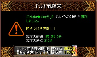 Gv VS ∬Night★King∬ さん 結果