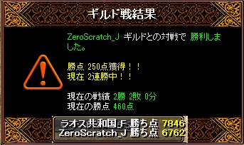 Gv VS ZeroScratch_J さん 結果