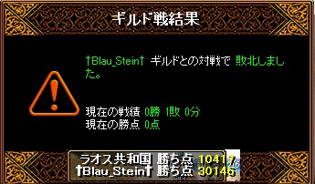 Gv VS†Blau_stein†様 結果