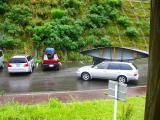 カヌーを積んだ車たち。。