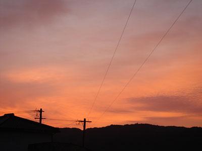 2007/2/16朝焼け