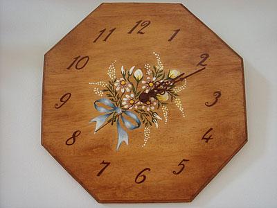 トールペイントの時計