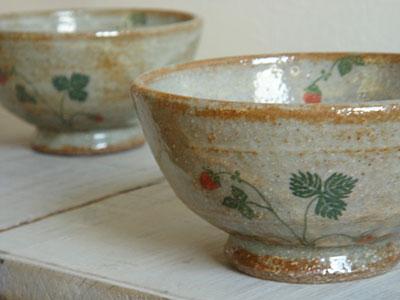 ワイルドストロベリーのお茶碗♪