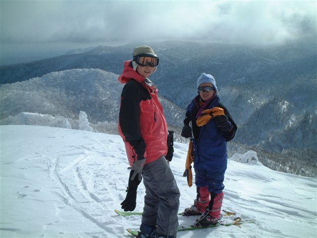 山頂で記念写真