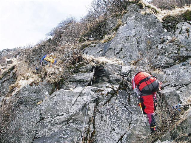 核心部の露岩