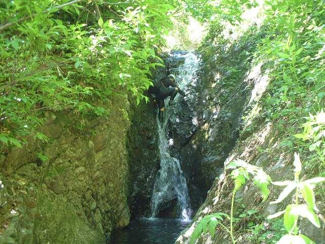小滝を登る