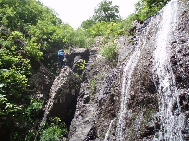 大滝を登る!