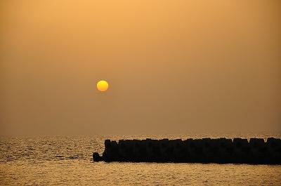 櫓木の夕日