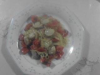 トマトと貝柱のカッペリーニ