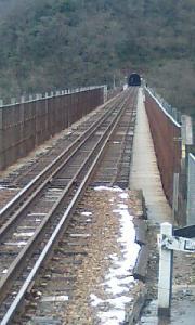駅からみた鉄橋