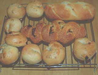 ソフトフランスパンとベーグル・ベーコンエピ