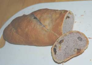 ブラックベリー酵母のパン