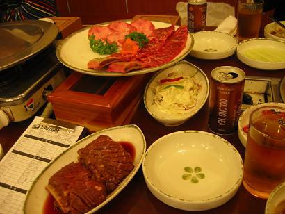 071003韓国夕飯ゎカルビ