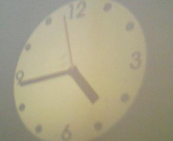 プロジェクター時計