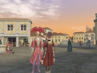 ピンクのカルネヴァレアービトとマスケラ