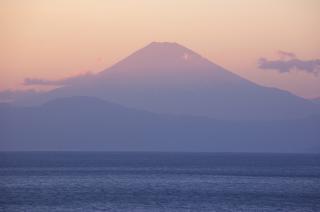 20070307 夕暮れ 三戸 富士山