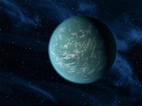 惑星ケプラー22bの想像図