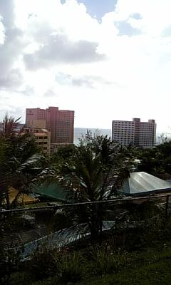 ホテルから見た景色