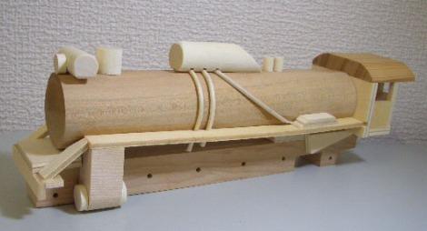 木製SL組立キットD51蒸気機関車7