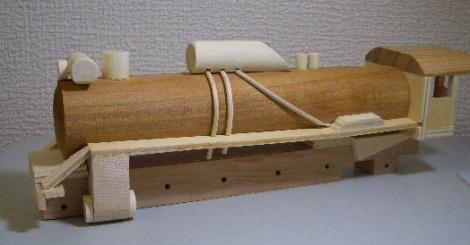 木製SL組立キットD51蒸気機関車5