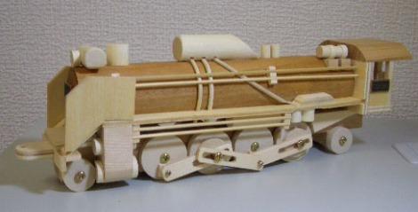 木製SL組立キットD51蒸気機関車3