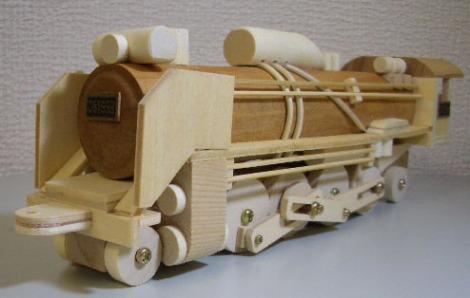 木製SL組立キットD51蒸気機関車