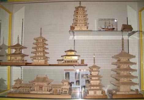 店内木製模型