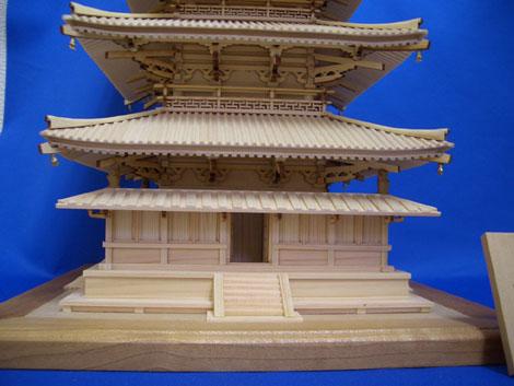 法隆寺 五重の塔 1階正面