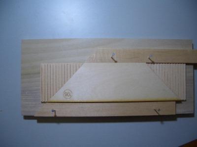 初層屋根板の加工