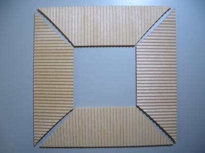 2層屋根板の加工