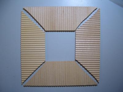 4層屋根板の加工