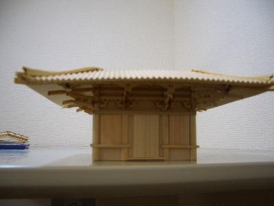 初層屋根の接着