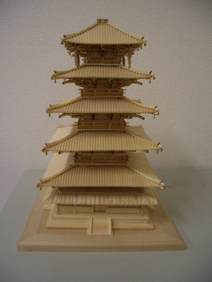 5層飾り支柱の接着3