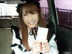 【無修正】激カワメイドが車内で大胆ご奉仕ファック大量中出し姦☆アンナ☆