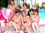 【無修正】可愛すぎる美少女たちを部屋に連れ込んで怒涛の6P乱交ファック!