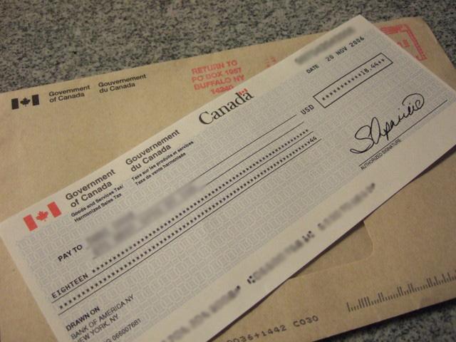 canada cheque