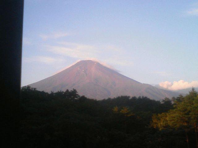 携帯からの富士山でも絶景でしょ!