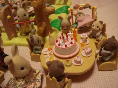 シルバニア 鉄棒と赤ちゃんパーティーセット