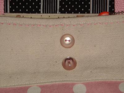 2007.6 bunさんのバッグ ボタンアップ