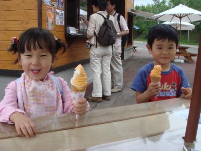 2007.7.6  ファーム富田 メロンソフトクリームおいしい~