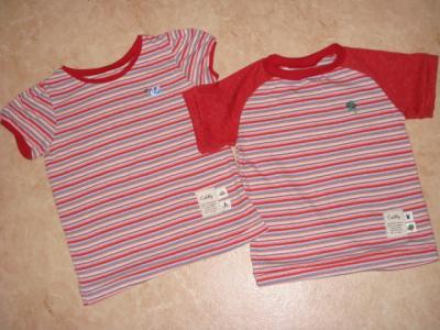 La La La3 ロックミシンで子供服 パフT130とパタレ14WayTシャツ110