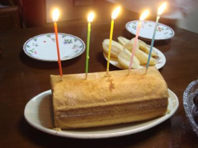 2007.9 ジィジの誕生日ケーキ
