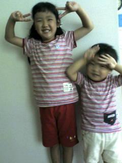2007.8.5 凌くん&凪ちゃん お揃いTシャツ画像