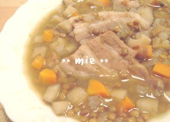 20060927塩豚とマメのスープ