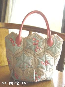 20061013スカラップキルトのバッグ