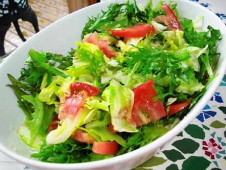 半生キャベツのサラダ